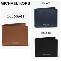 【Michael Kors】Harrison Leather Slim Billfold Wallet