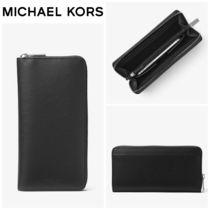 【Michael Kors】Henry Large Leather Zip-Around Wallet