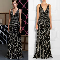 GUCCI★素敵!Black White SMOCKED WAIST Long MAXI DRESS GOWN