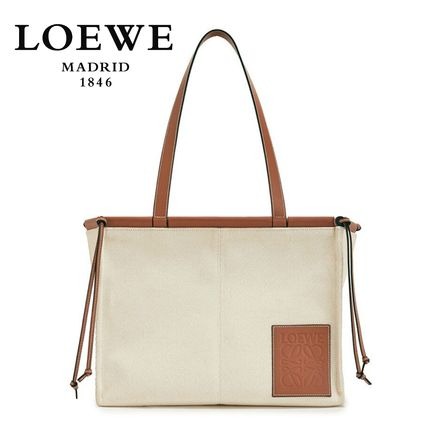 LOEWE トートバッグ ∞∞ LOEWE ∞∞ Cushion small leather-trimmed canvas トート