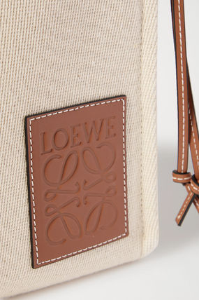 LOEWE トートバッグ ∞∞ LOEWE ∞∞ Cushion small leather-trimmed canvas トート(7)