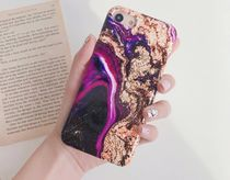 purple marbleケース///iphone/galaxy