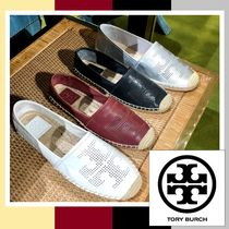 Tory Burch☆PERF ORATED LOGO FLAT フラットシューズ/送・税込
