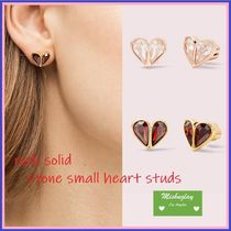 【kate spade】rock solid stone small heart studs♡