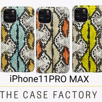 The Case Factory★iPhone 11 PRO MAX SNAKE 高級カーフレザー