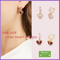 【kate spade】♡rock solid stone heart huggies♡