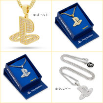 King Ice(キングアイス) ネックレス・ペンダント 送料込【PlayStation x King Ice】プレステ ロゴ ネックレス