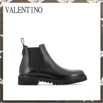 VALENTINO / LEATHER ANKLE BOOTS ブラック【関税・送料込】