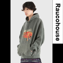 ●RAUCOHOUSE●韓国服●RED METALLICA PIGMENT DYING フーディ
