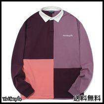 [MARKGONZALES] M/G SEPARATION RUGBY SHIRTS PURPLE