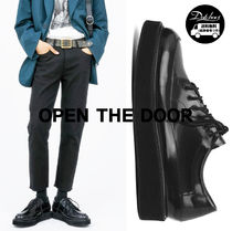 OPEN THE DOOR cow hide round loafer KN35 追跡付