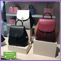 【kate spade】上品レザーリュック★medium flap backpack★adel