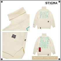 日本未入荷STIGMAのCREAM OVERSIZED WOOL TURTLE NECK SWEATER