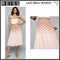 【海外限定】REISS スカート☆ELSA PRINTED KNIFE-PLEAT MIDI SK