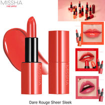 MISSHA■DARE ROUGE SHEER SLEEK リップスティック 12色