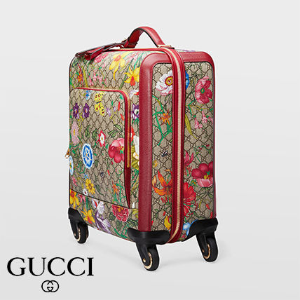 GUCCI スーツケース 【GUCCI】GG Flora carry-on red GG Supreme Flora