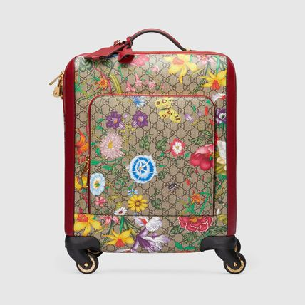 GUCCI スーツケース 【GUCCI】GG Flora carry-on red GG Supreme Flora(2)