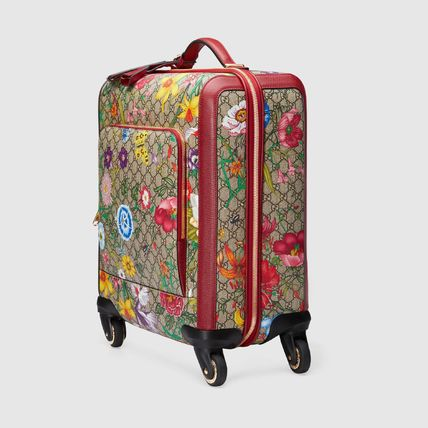 GUCCI スーツケース 【GUCCI】GG Flora carry-on red GG Supreme Flora(3)