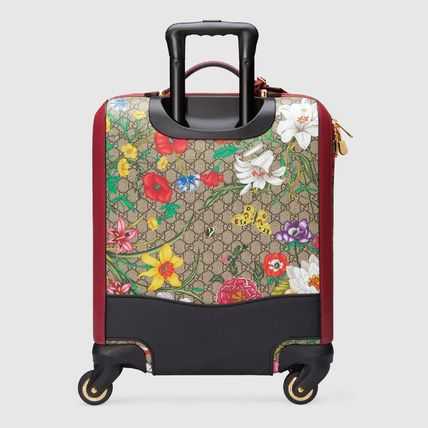 GUCCI スーツケース 【GUCCI】GG Flora carry-on red GG Supreme Flora(4)
