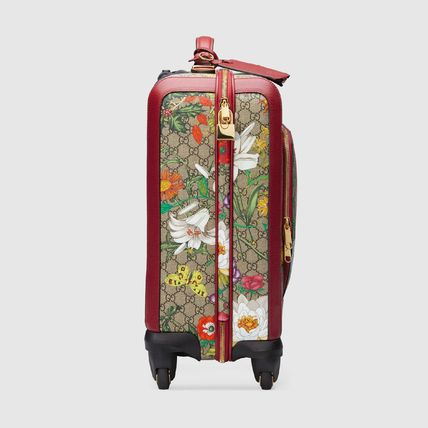 GUCCI スーツケース 【GUCCI】GG Flora carry-on red GG Supreme Flora(5)