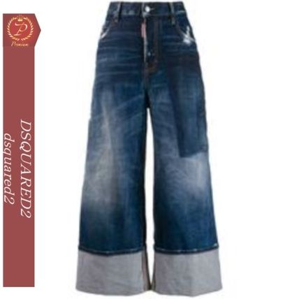 D SQUARED2 デニム・ジーパン DSQUARED2 DSQUARED wide leg panelled jeans