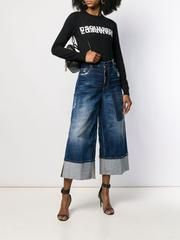 D SQUARED2 デニム・ジーパン DSQUARED2 DSQUARED wide leg panelled jeans(2)