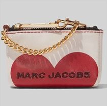 Marc Jacobs ロゴ ハート チェーン&キーリング付 ミニ財布♪