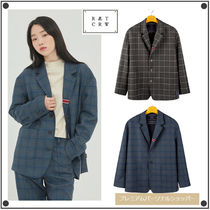 ROMANTIC CROWNのFRIDAY THREE BUTTON CHECK JACKET 全2色
