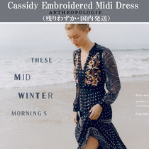 Anthropologie(アンソロポロジー) ワンピース 国内発送♡残りわずか!! ANTHROPOLOGIE Embroidered Dress