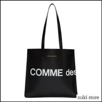 【Comme des Garcons Wallets】ブラックヒュージロゴトート