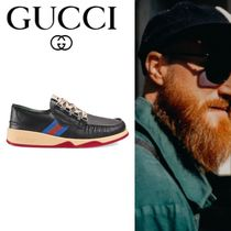 【GUCCI】 chaussures a lacets a bande Web スニーカー