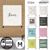 abundance Lettering hanging fabric poster BBM246 追跡付