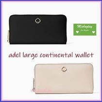【kate spade】上品レザー長財布★ adel large continental ★