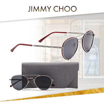 【19SS NEW】 Jimmy Choo_men / CALオーバルサングラス /グレー