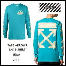 【OFFWHITE】TAPE ARROWS L/S T-SHIRT/ブルー/ロンT/20SS/ロゴ