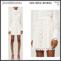 Zimmermann☆ワンピース☆Super Eight crochet linen-blend mini