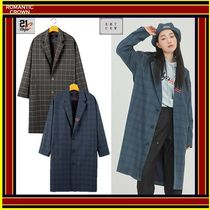 [ROMANTIC CROWN]  FRIDAY THREE BUTTON CHECK COAT ◆全2色◆