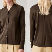 """COS"" MERINO-SILK CARDIGAN BROWN"