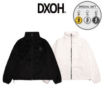 [DXOH] TONE ON TONE PATCH FUR ZIP UP 2COLOR 韓国 フリース
