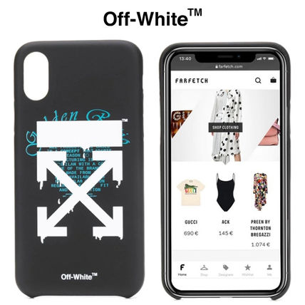 Off-White スマホケース・テックアクセサリー ★安心の国内発送★人気商品★Off-White Dripping Arrows iPhone