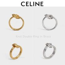 ★CELINE★エレガント♪ノット ダブルリング**Gold&Silver