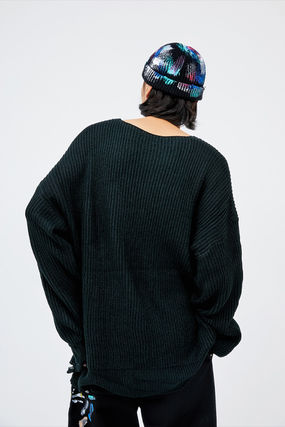 OPEN THE DOOR ニットキャップ・ビーニー ●OPEN THE DOOR●韓国FASHION●PAINTING DAMAGE SHORT BEANIE(3)