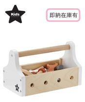 関税送料込み!!Kids Concept Wooden Tool Box Star Natural♪