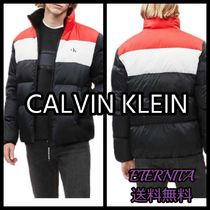 関税送料込【Calvin Klein】  Color Block Down Puffer