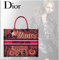☆DIOR☆ANIMALS☆BOOk TOTE☆バッグ☆虎☆フクシア☆