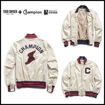☆Todd Snyder + Champion☆ WINGED FOOT GOLDENBEAR BOMBER