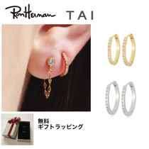 【ronherman取扱】TAI CUBIC ZIRCONIA HUGGIE EARRINGS(L)
