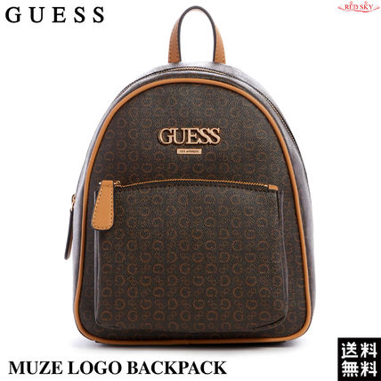 Guess バックパック・リュック 新作【Guess(ゲス)】MUZE LOGO BACKPACK モノグラム リュック