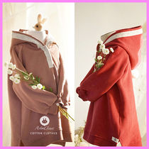 【ArimCloset】3color cotton lace cute and pure long hood