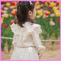 【ArimCloset】romantic lace organic style baby cotton blouse